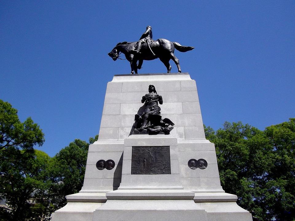 Monument, Statue, Architecture, Figures, Horse, Stone