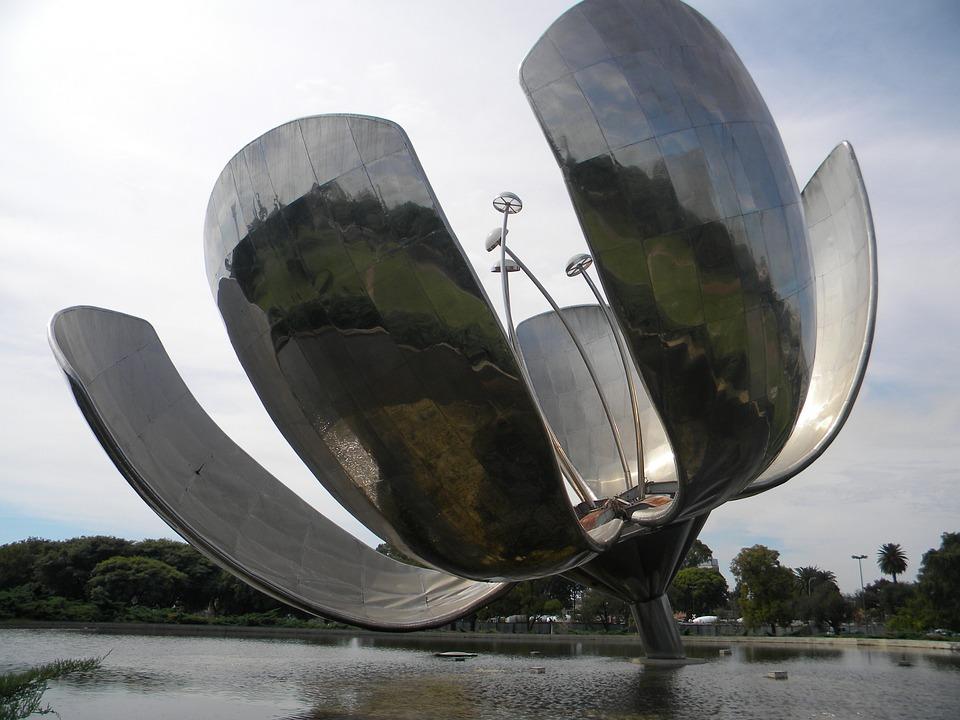 Flor, Monument, Metal, Recoleta, Buenos, Argentina