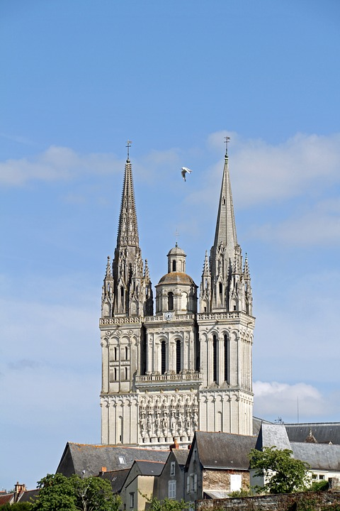 Cathedral, City Of Angers, France, Europe, Monument