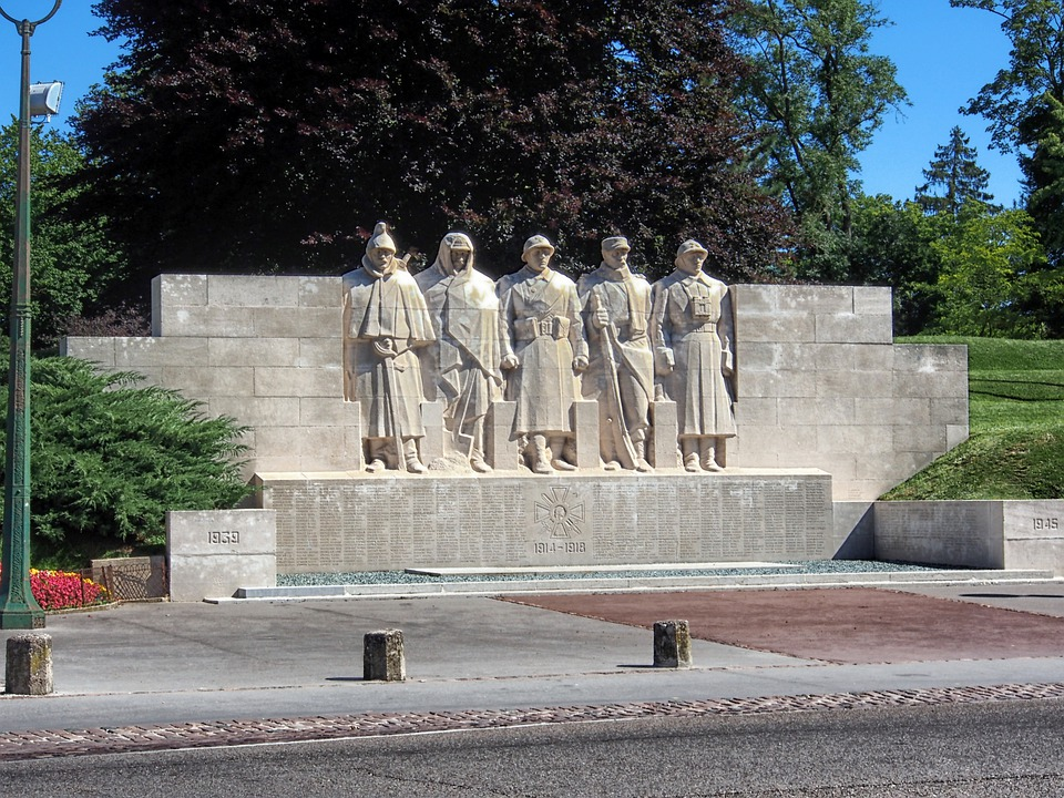 Verdun, France, War Memorial, Sculpture, Monument