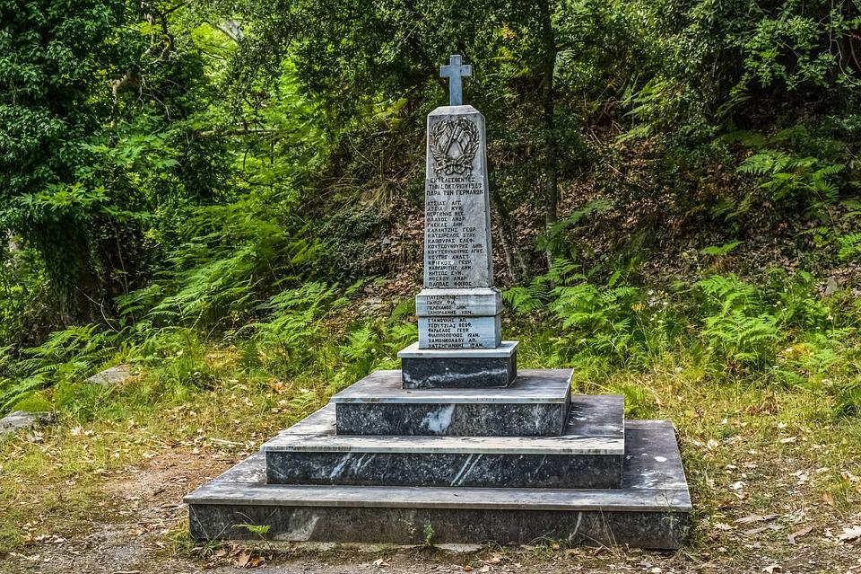 Greece, Pelio, Milies, Ww Ii Memorial, Monument