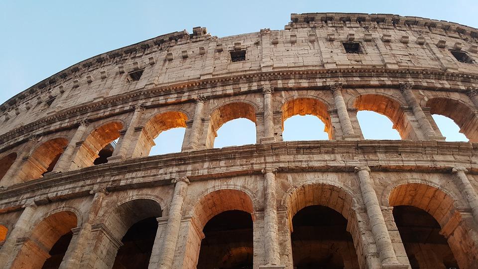 Colosseum, Rome, Italy, Roman Coliseum, Monument