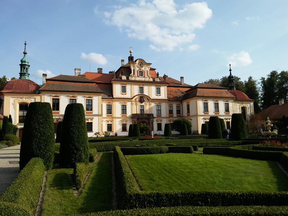 Jemniště, Castle, Monument, Garden, Romance