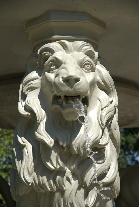 Fountain, Lion, Statue, Monument, Europe, European