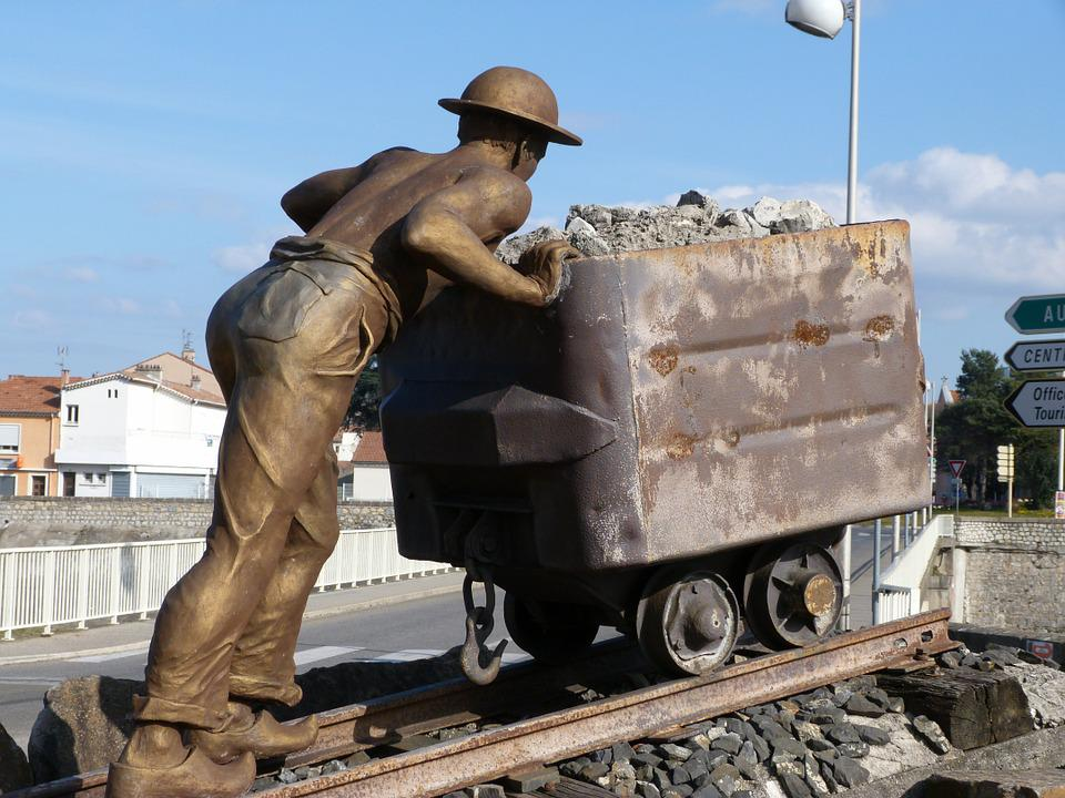 Monument, Statue, Minor, Wagon, Bronze, Ales, Man