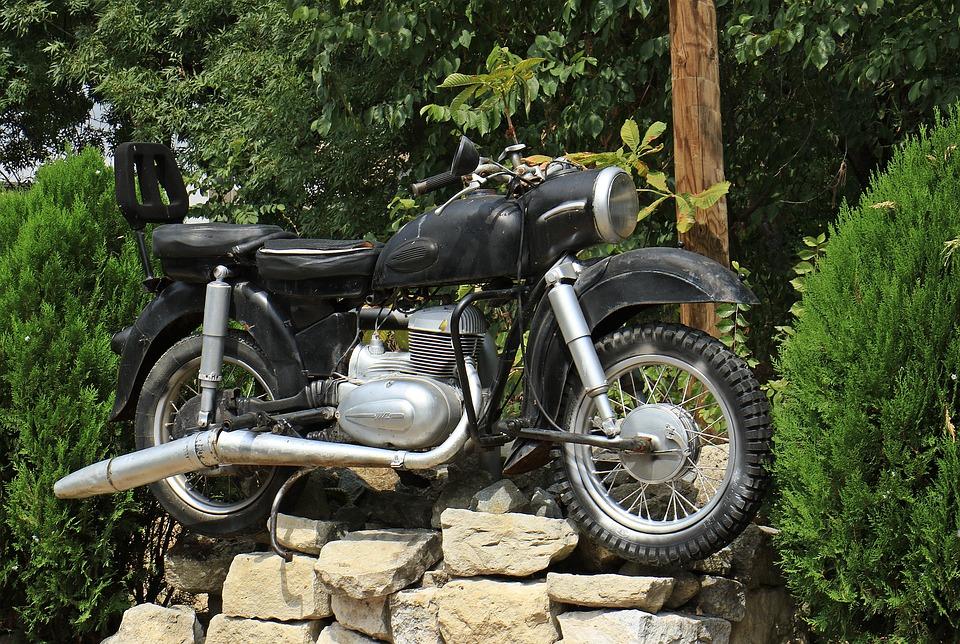 Motor, Engine, Old, Monument, Motorcycle, Brake, Wheel