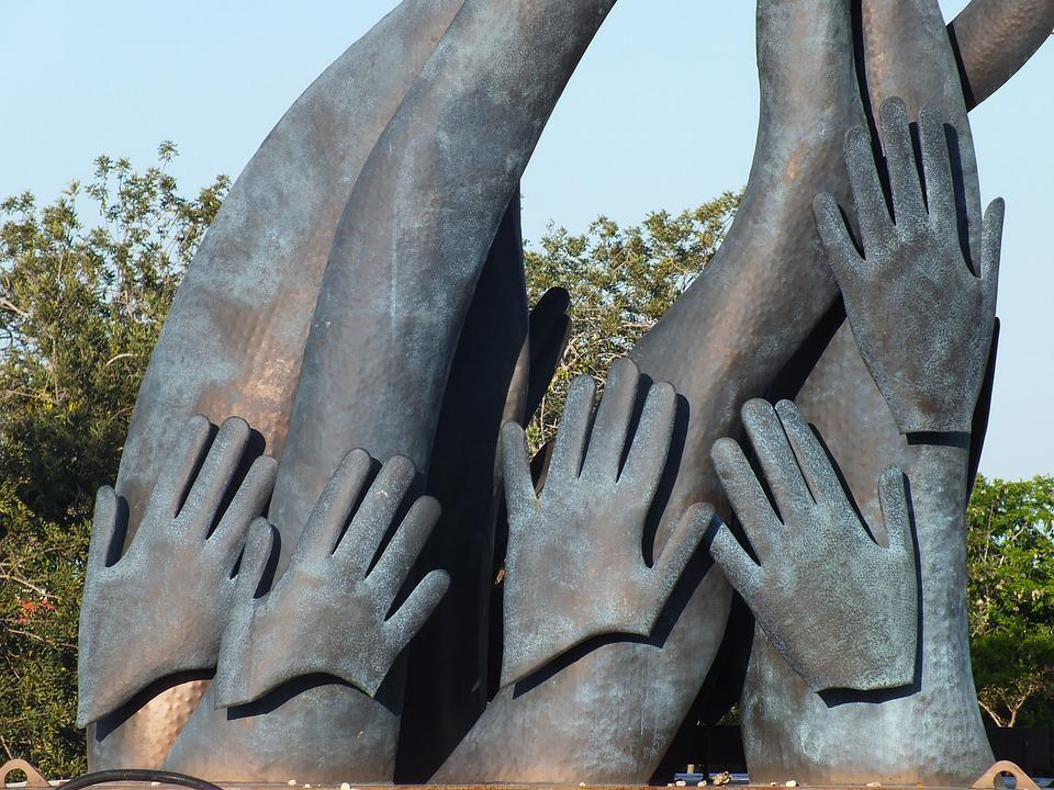 Hands, Monument, Pagesia, Saint Barbara