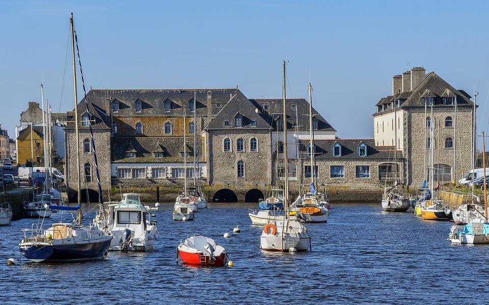 Pont-l'abbé, Port, Boat, Sea, Monument, Pierre, City