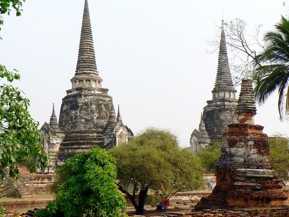 Thailand, Ayuttaya, Buddhism, Monument, Ruins