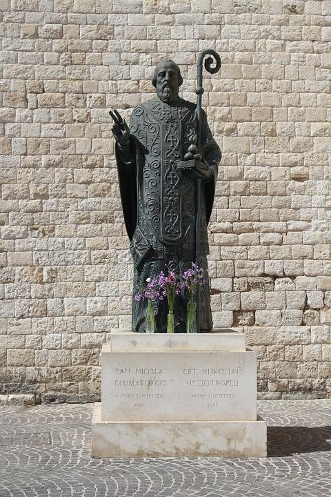 St Nicholas, Holy, Statue, Monument, Bari, Italy