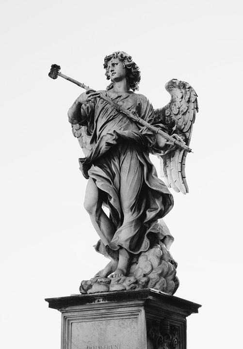 Angel, Statue, Sculpture, Figure, Monument, Old
