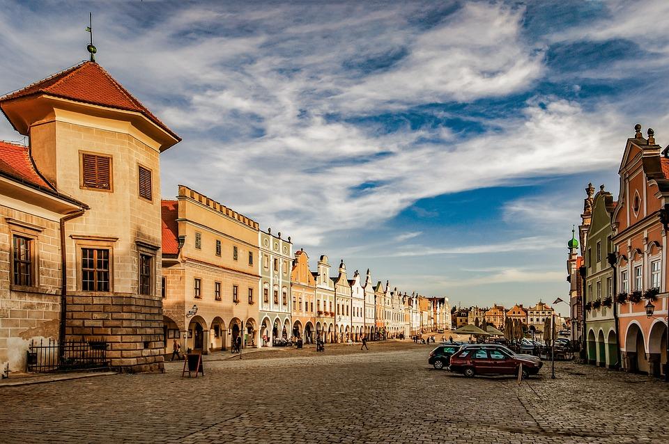 City, Telč, Unesco, Historical, Clouds, Monument