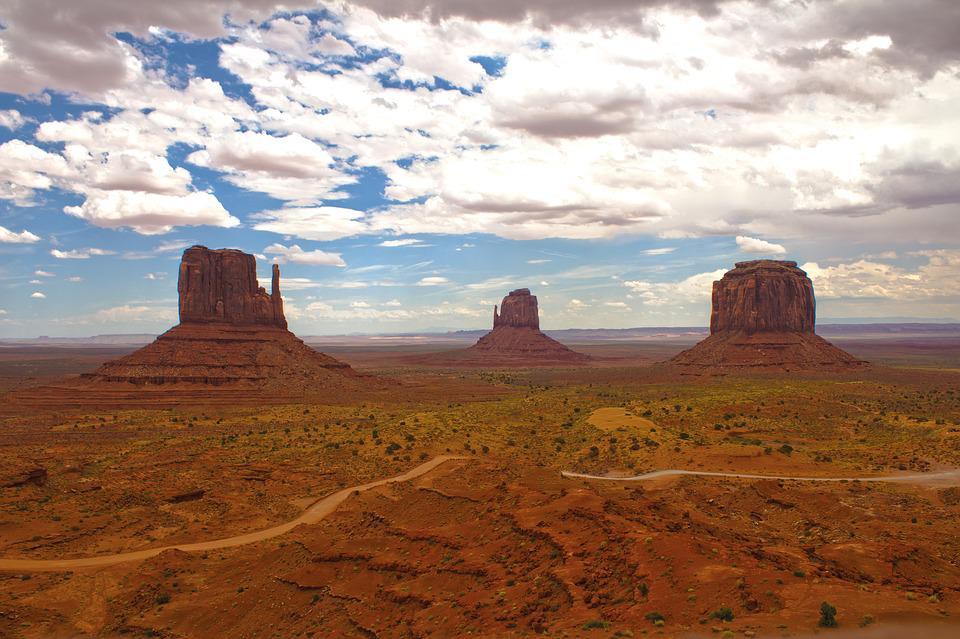 Monument Valley, View, Landscape, Red, Colors