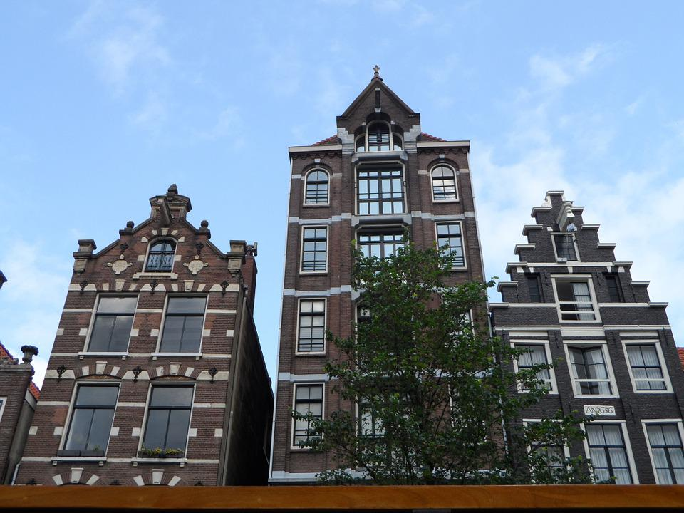Amsterdam, City, Townhouses, Buildings, Monuments