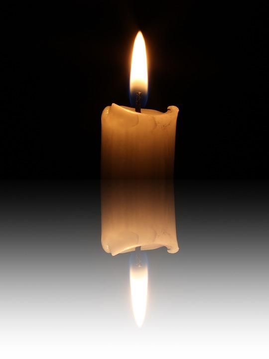 Mirroring, Candle, Candlelight, Flame, Mood