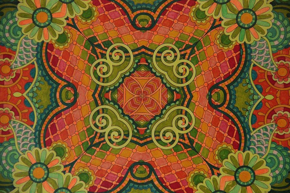 Mandala, Color, Mood, Geometric, Flower, Network