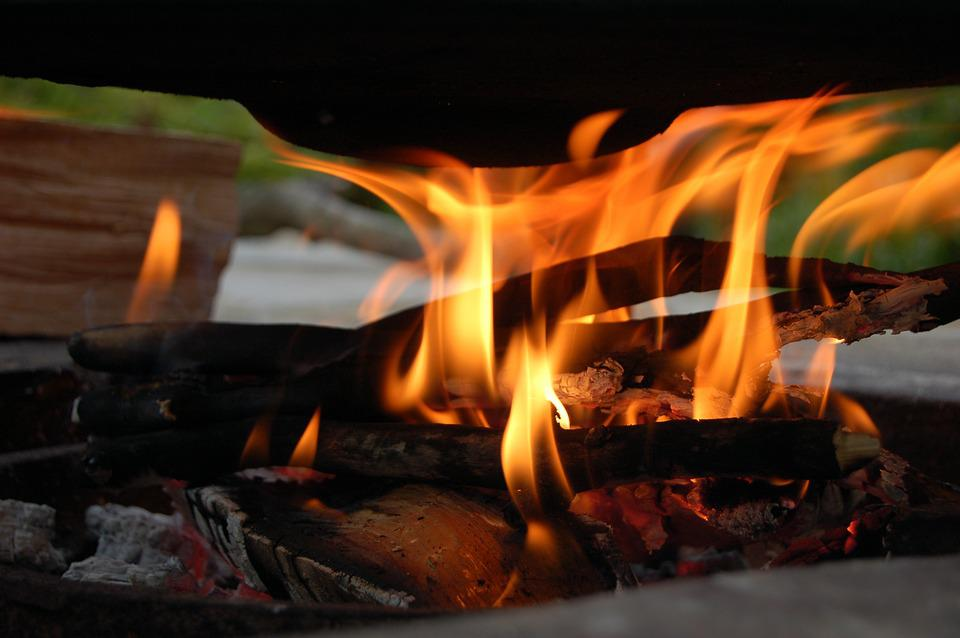 Fire, Flame, Grill, Mood, Wood Fire, Glow, Hot