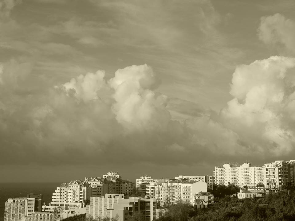 Madeira, Funchal, Sky, Clouds, Clouds Form, Mood