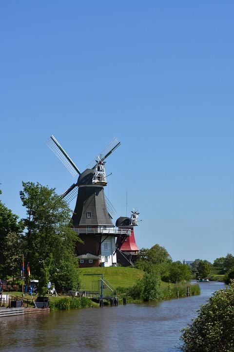 Greetsiel, Mill, Windmill, East Frisia, Sky, Mood