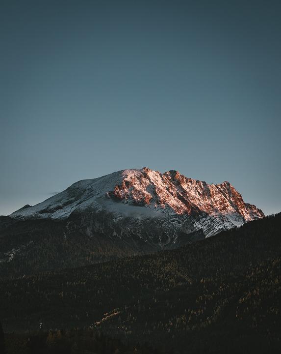 Alpine, Mountains, Sunset, Hiking, Mood, Light
