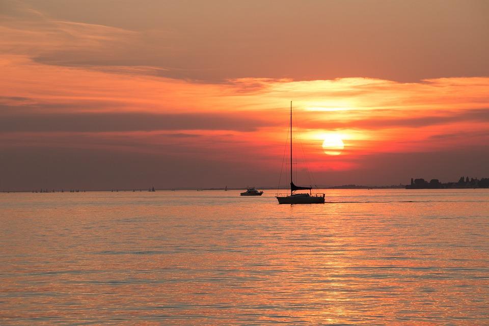 Lake Constance, Sailboat Sunset, Water, Lake, Mood