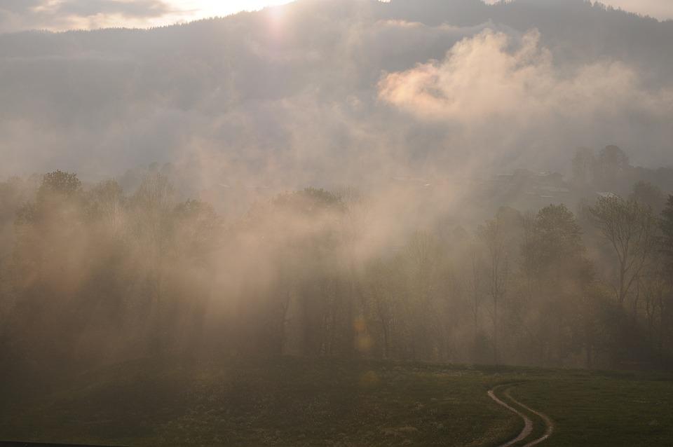 Clouds, Mountains, Landscape, Sunset, Mood