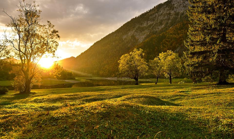 Sunset, Nature, Landscape, Autumn, Heat, Light, Mood