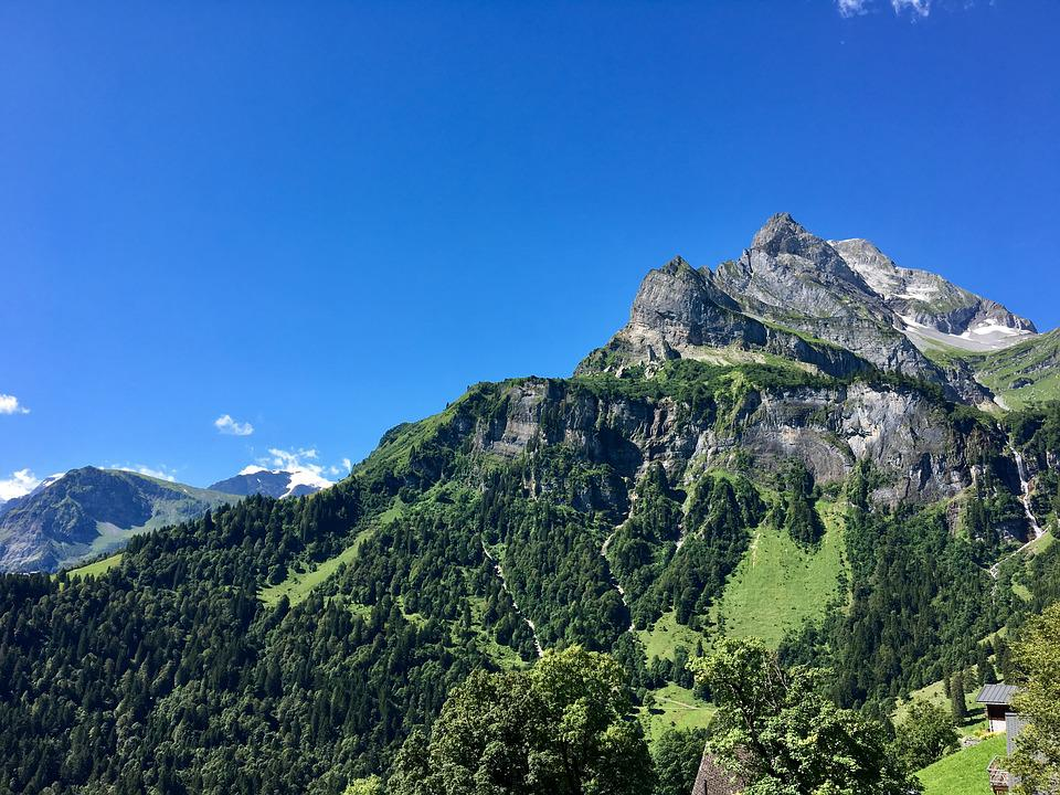 Mountain, Landscape, Glarus, Summer, Nature, Mood