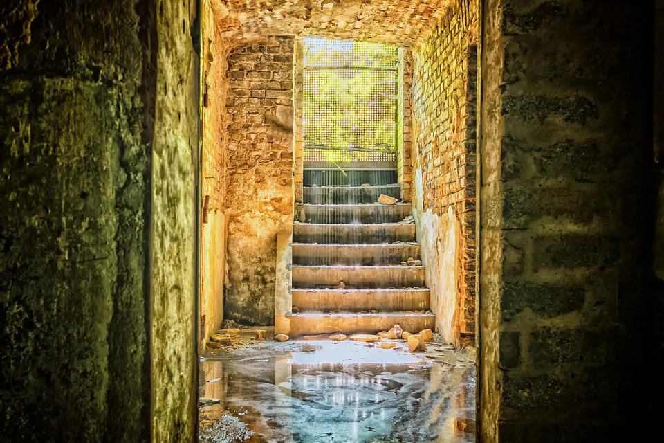Lost Places, Keller, Stairs, Mystical, Old, Mood