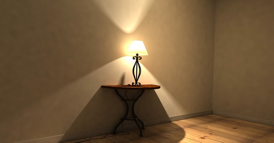 Table, Lamp, Lighting, Parket, Ground, Room, Mood