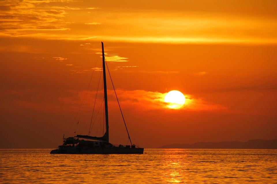 Sailing Boat, Sunset, Boot, Sea, Mallorca, Mood, Water