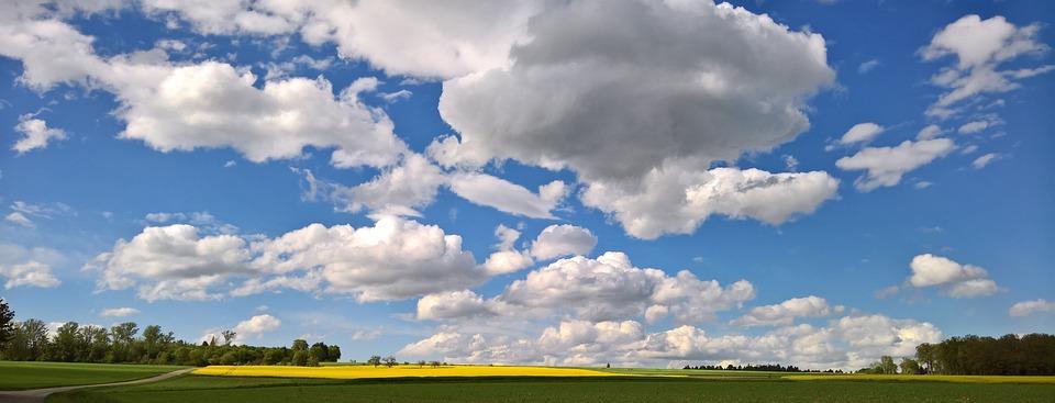 Spring, Clouds, Sky, Panorama, Mood, Blue, Clouded Sky