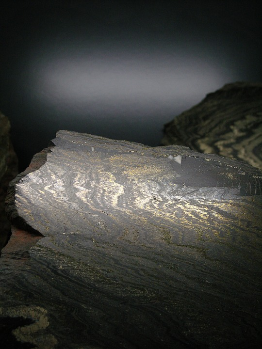 Stone, Rock, Mining, Gold, Black, Shimmer, Mood