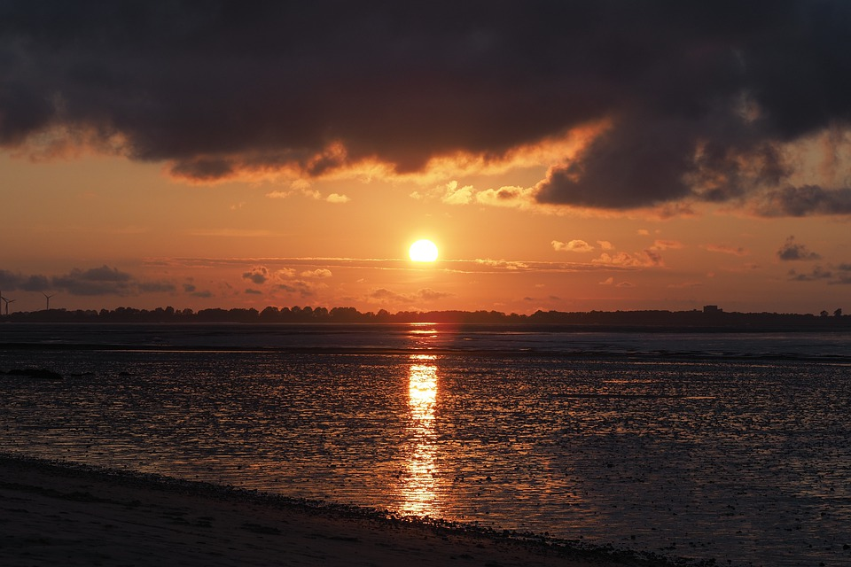 Sunset, Evening Light, Sun, Mood, Sky, Landscape