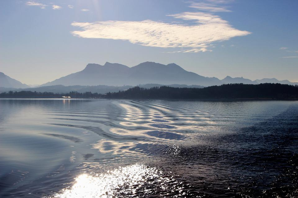 Lake, Sunset, Mood, Water, Abendstimmung, Nature