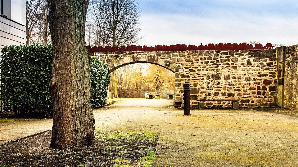 Kassel, Tree, Input, Goal, Wall, Sky, Germany, Mood