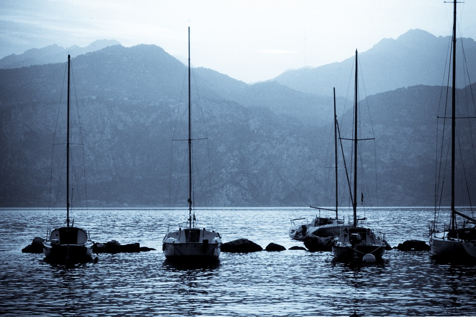Sailing Boats, Lake, Mountains, Water, Landscape, Mood