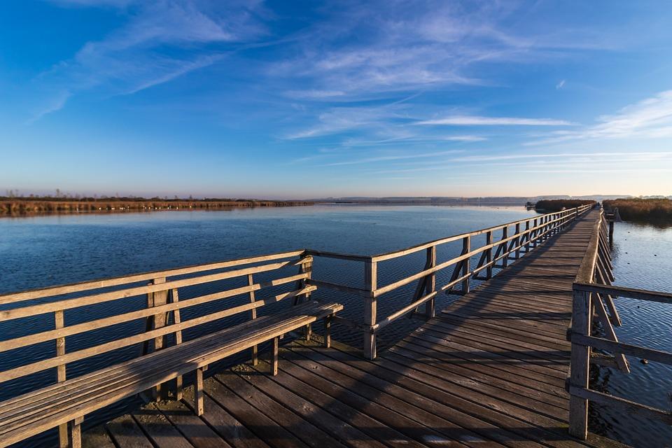 Spring Lake, Landscape, Web, Nature, Mood