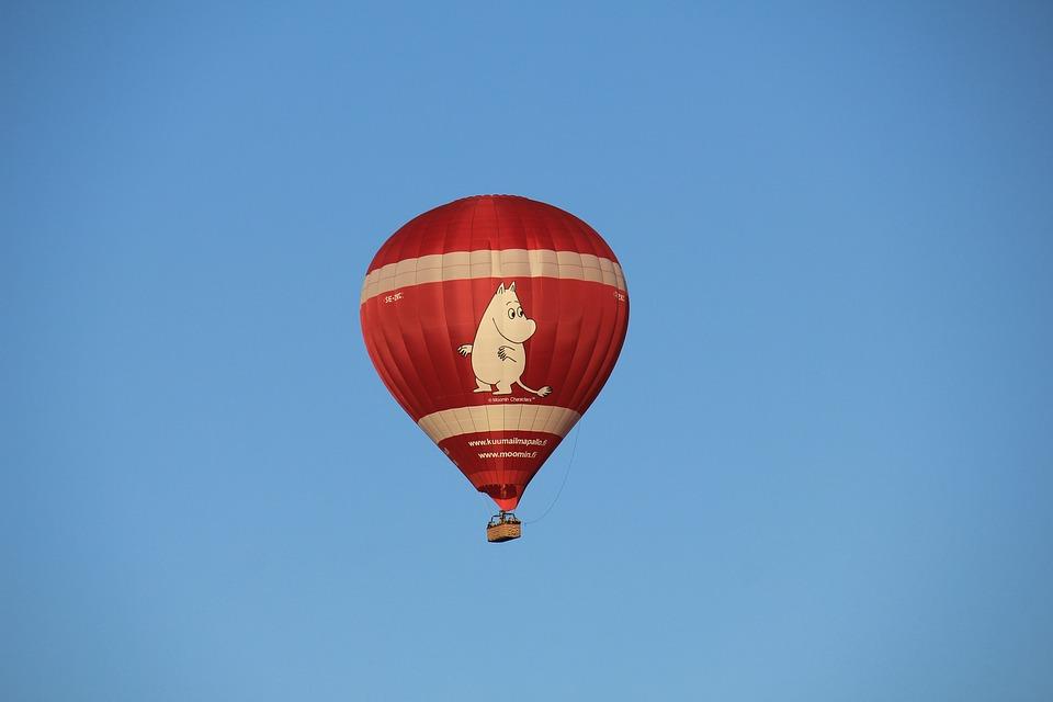 Balloon, Himmel, Moomintroll