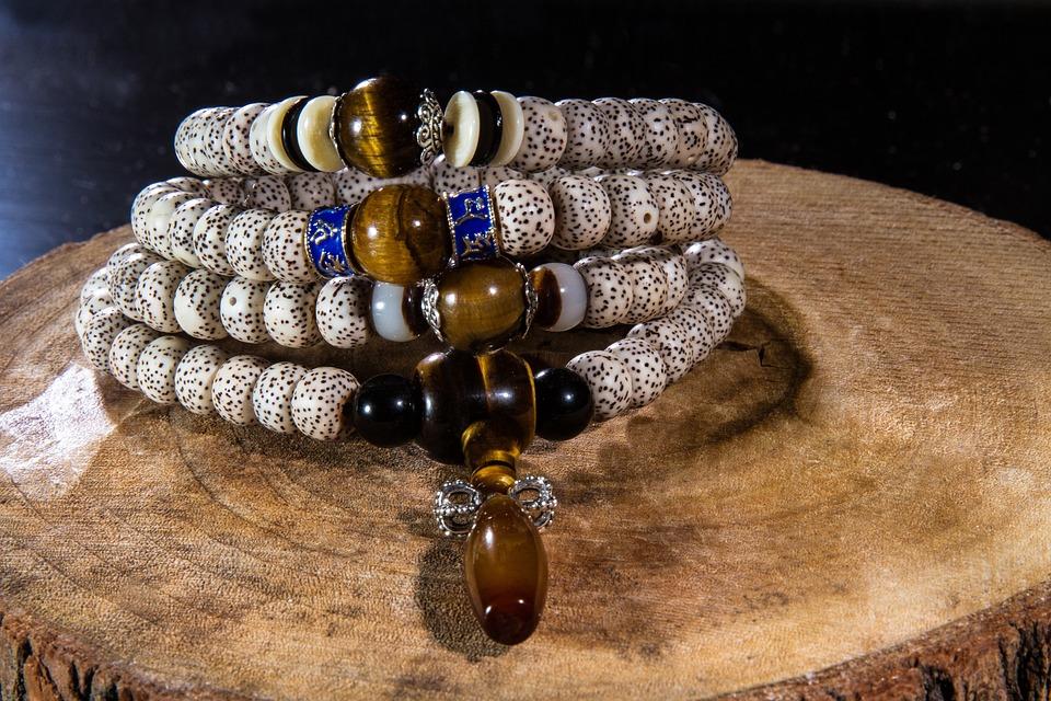 Buddha, Moon And Stars Bodhi, Buddhist Prayer Beads