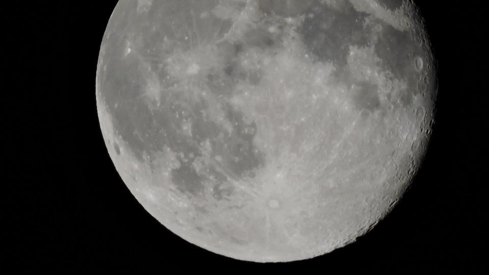 Moon, Space, Universe, Night, Sky, Dark, Cosmos