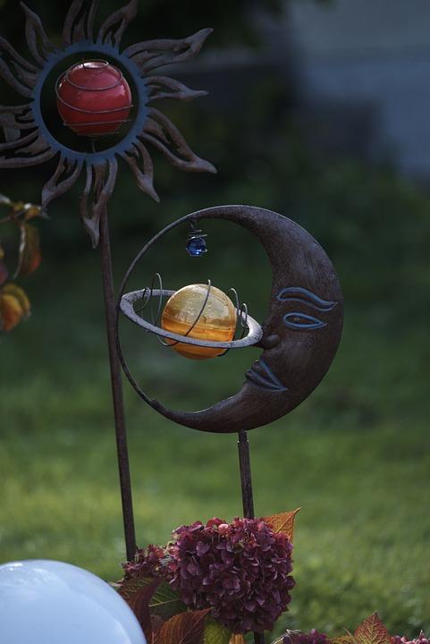 Garden, Gartendeko, Garden Design, Moon, Sun