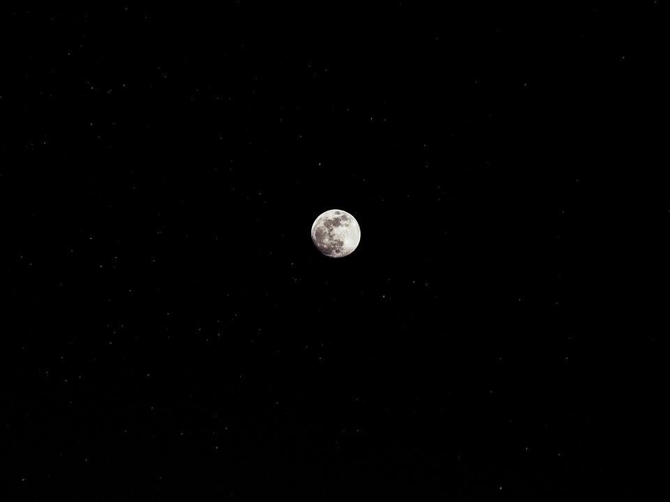 Moon, Star, Night, Sky, Night Sky, Starry Sky