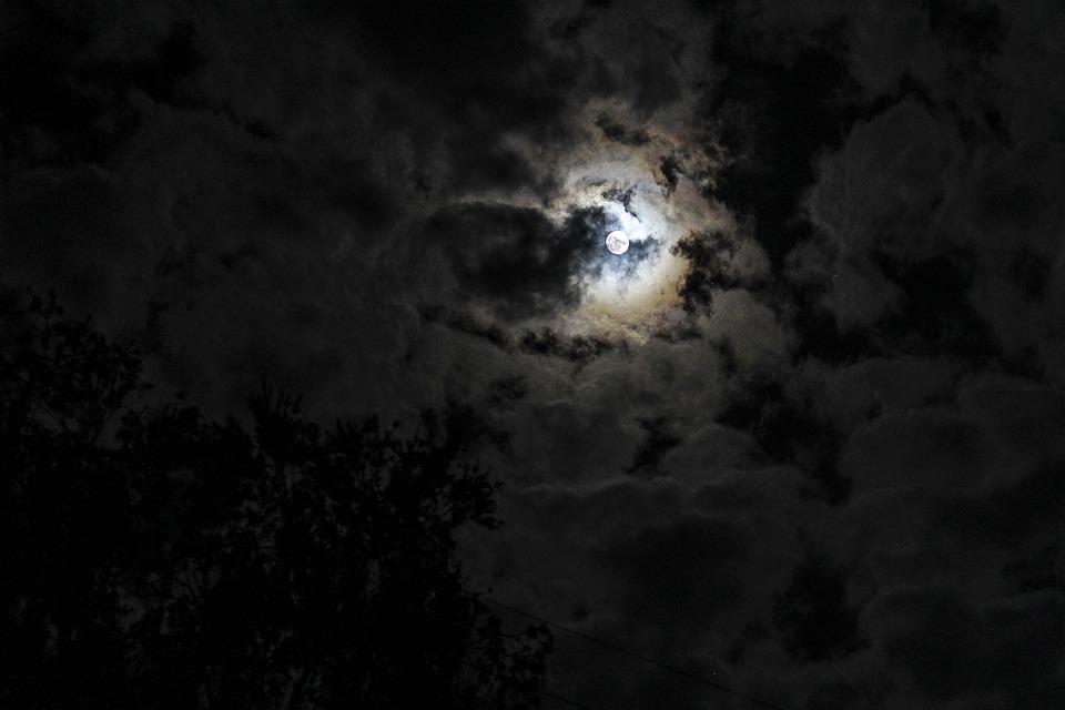 Moon Night Sky Moonlight Outdoor Natural Dark