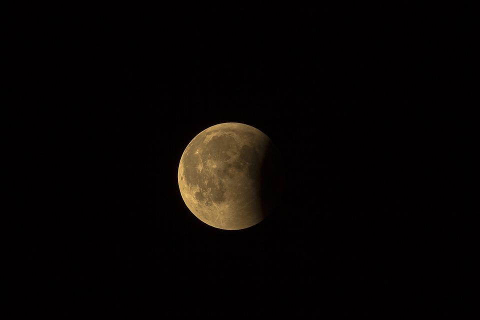 Lunar Eclipse, Full Moon, Moon, Moonlight