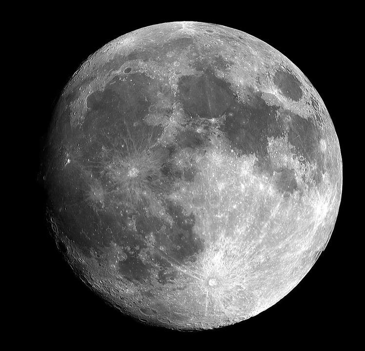 Full Moon, Moon, Bright, Sky, Space, Moonlight, Lunar