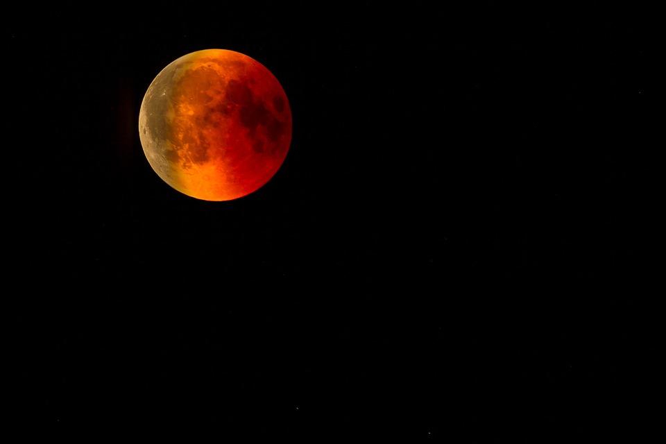 Blood Moon, Moon, Lunar Eclipse, Moonlight, Moonrise