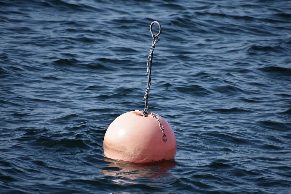 Mooring Buoy, Sea, Water, Ocean