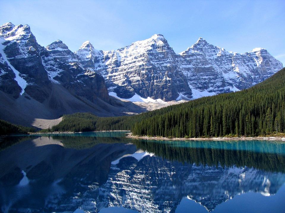 Banff, Lake, National Park, Moraine Lake, Mirroring