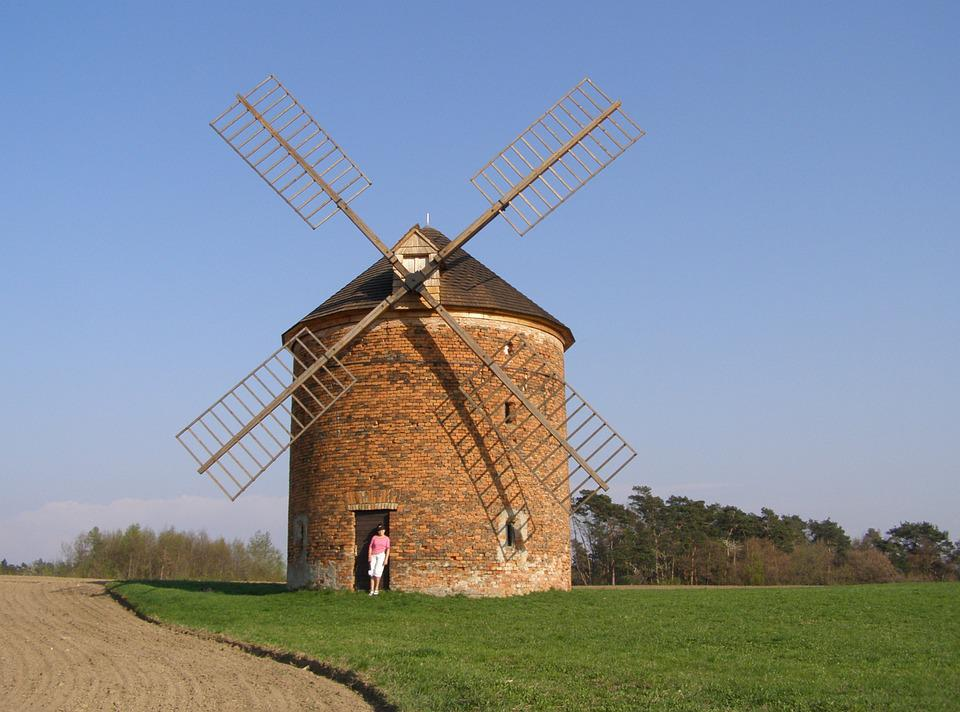 Mill, Windmill, Whiffle, Scoop, Landscape, Moravia